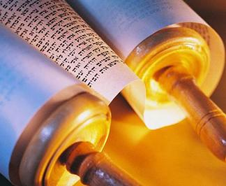 jewish torah scroll crop